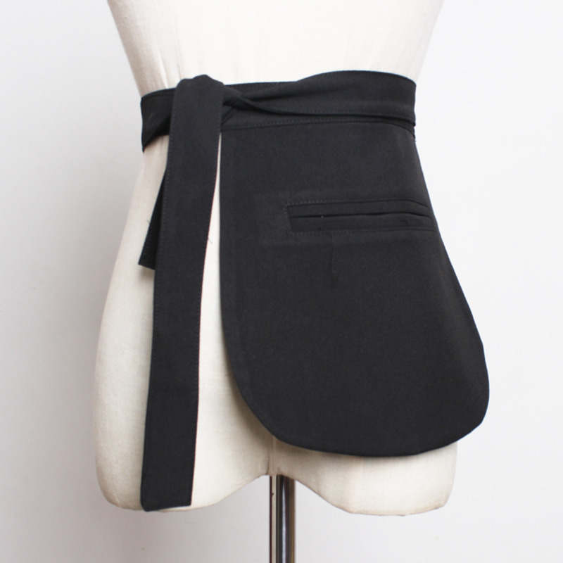 2020 Spring Trendy Design Hot Sale Corset Belts For Women Fashion Plaid Asymmetric Suit Pocket Unilateral Girdle Female ZK237