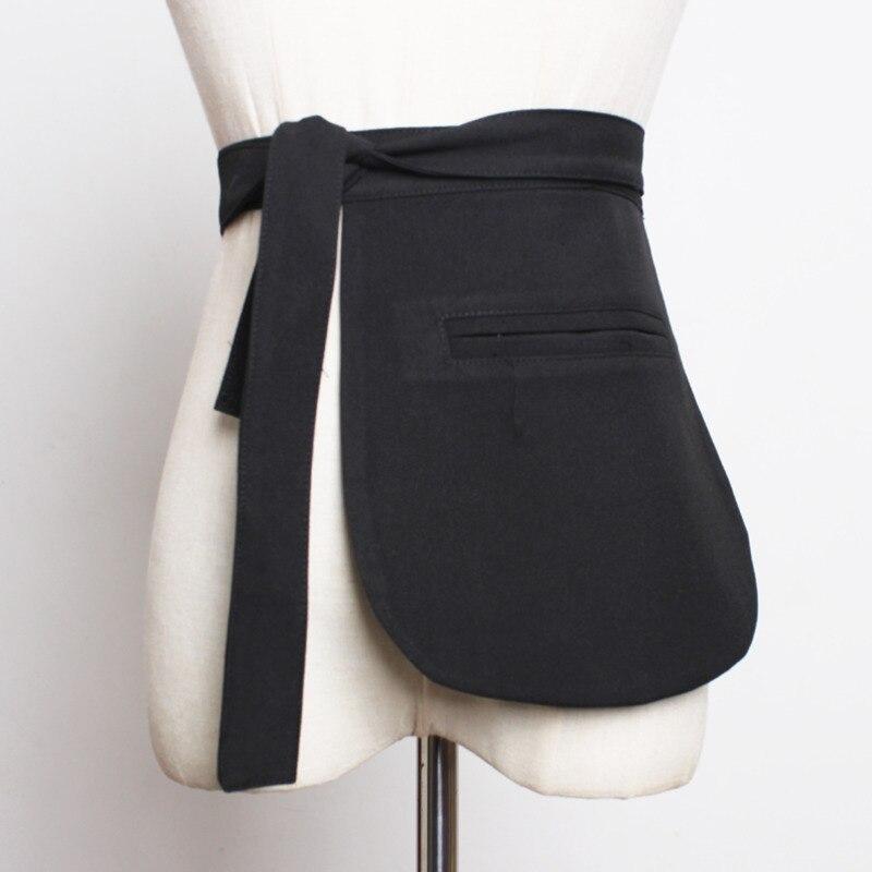 2020 Spring Trendy Design Hot Sale Corset Belts For Women Fashion Plaid Asymmetric Suit Pocket Unilateral Girdle Female ZK237