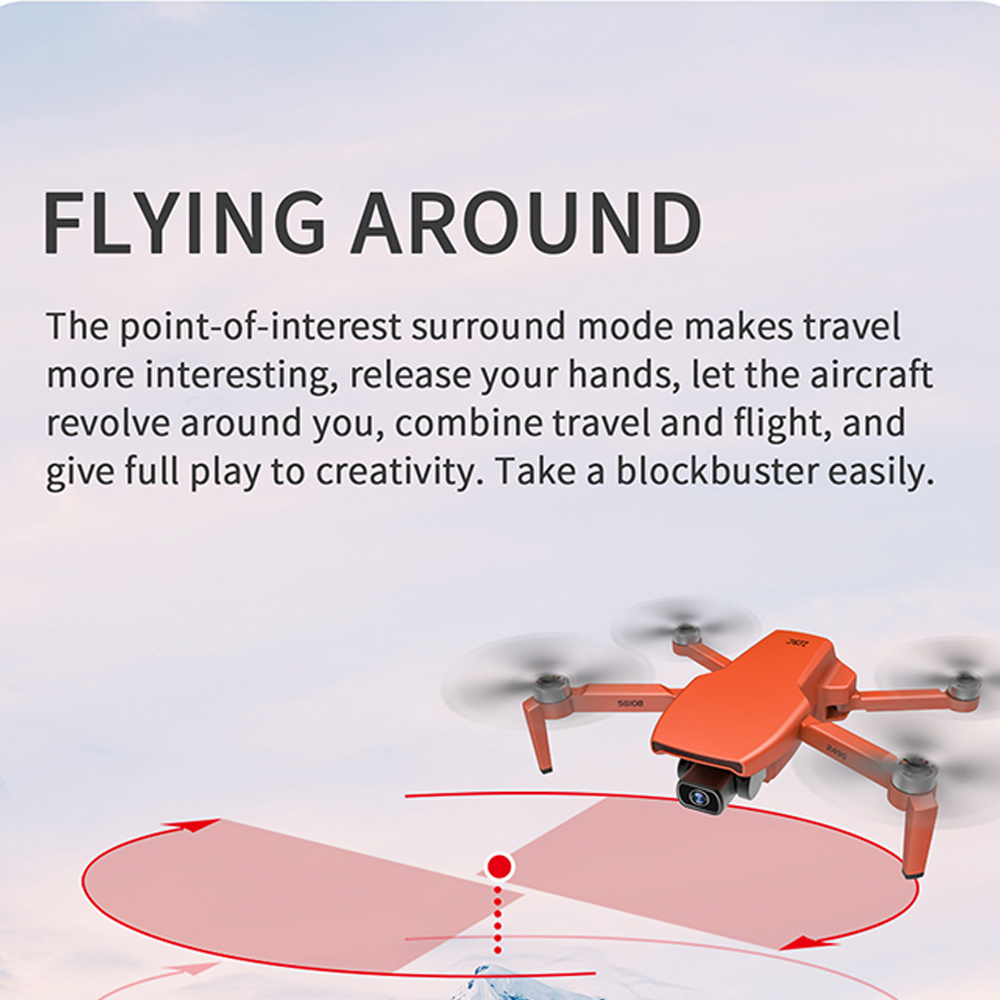 2020 New SG108 Drone 4k HD FPV Drone 5G WiFi GPS Dron Brushles Motor Flight For 25 Min RC Distance 1km RC Quadcopter VS Ex5 Dron 6
