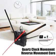 Mécanisme de marche arrière pour horloge à Quartz, 1 ensemble, réparation silencieuse, avec crochet, aiguille de remplacement