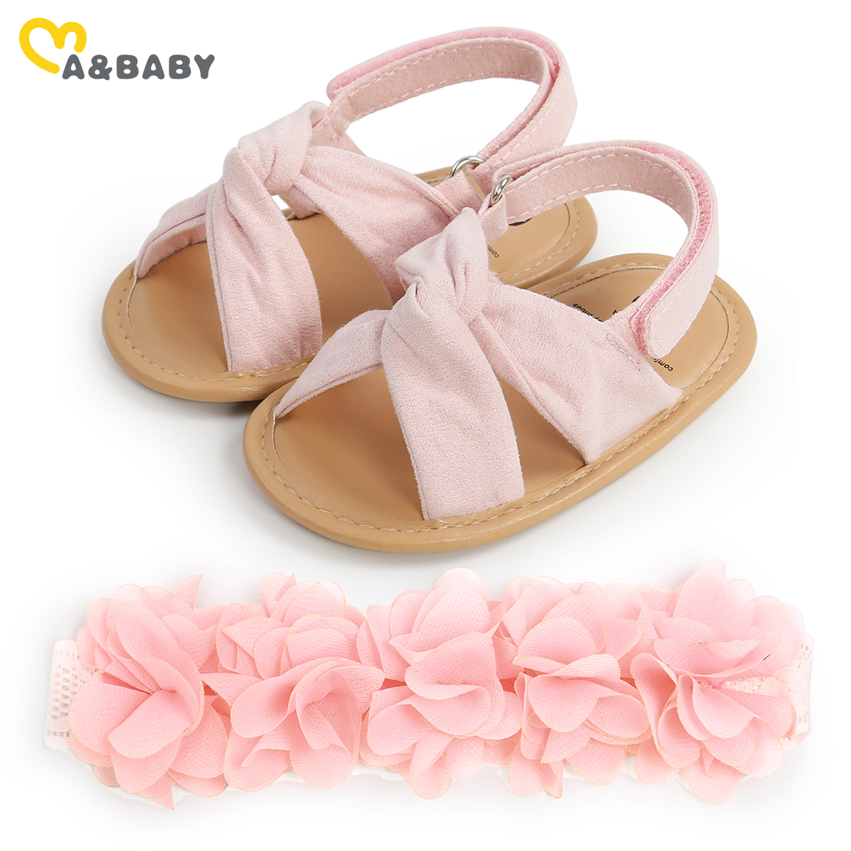 Ma&Baby 0-18M Summer Baby Girl Sandals Clogs Princess Toddler Flower Newborn Infant Baby Girls Shoes