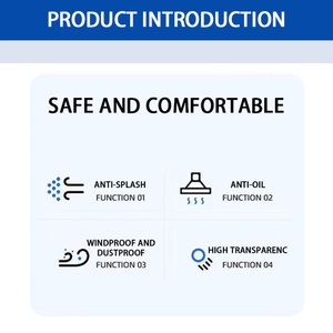 2 шт. Антивирусная Защитная защита для лица защита от капель ffp3 Защитная лицевая крышка козырек пыленепроницаемый противотуманный экран прозрачный