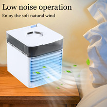 Portable Mini Air Cooler USB Small Air Cooler Ice Crystal Small Air Conditioner