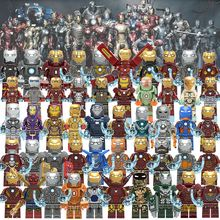 X0246 X0254 X0255 Single Super Heroes Iron Man Series Mark 1 Mark 7 Figures Bricks Building Blocks For Children Toys Gift dr tong 2017 new super heroes iron man mk36 armor mark building blocks compatible with interlocking bricks for child toys