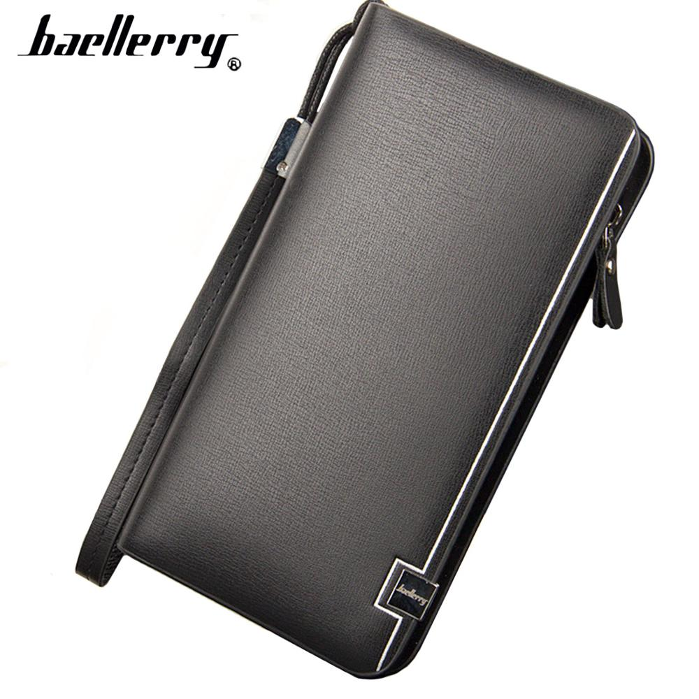 2018 Baellerry Men Wallets Luxury Large Capacity Top Quality Business Wallet PU Leather Phone Pocket Card Holder Male Wallet