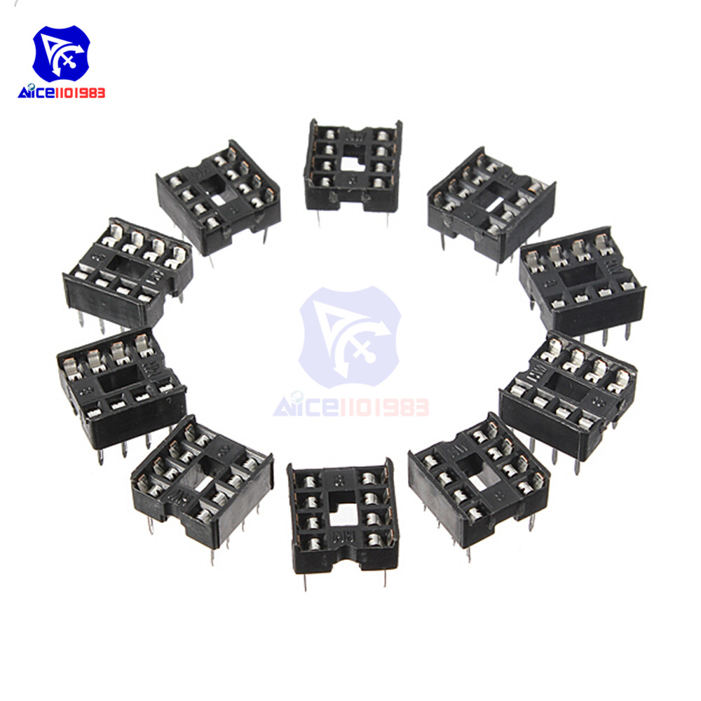Diymore 20PCS/Lot 2.54MM 8 Pin 8 Pin DIP-8 8DIP 8 DIP IC Sockets Adapter Solder Type