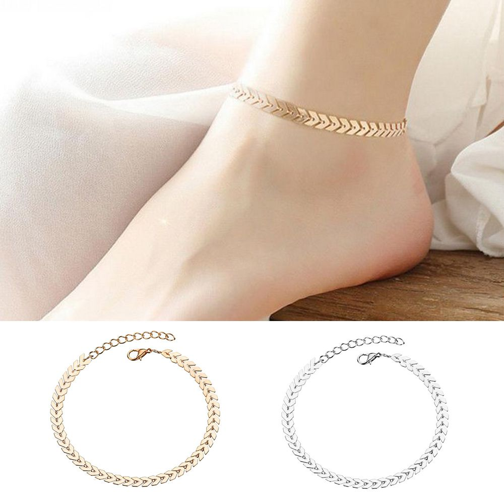 Unisex Travel Bohemian Vintage Arrow Anklet for Women's Girls Leg Bracelet Foot Chain Yoga Beach Barefoot Fashion Jewelry Summer