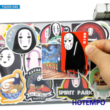 40pcs Anime Movie Spirited Away Cute No Face Men Cartoon Stickers font b Toys b font