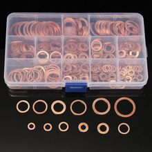 280/200/120/100Pcs Copper Sealing Solid Gasket Washer Sump Plug Oil For Boat Crush Flat Seal Ring Tool Hardware Accessories