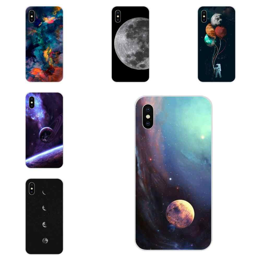 TPU Custom Design For Samsung Galaxy Note 5 8 9 S3 S4 S5 S6 S7 S8 S9 S10 5G mini Edge Plus Lite Skin Paintin Moon Space Snap On
