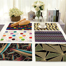 Креативная скатерть для стола с цветами модный коврик геометрическим