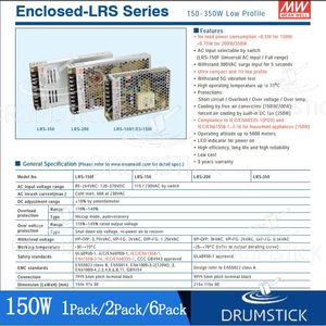 Image 5 - Bem médio lisamente LRS 350 24 24 v 14.6a meanwell LRS 350 350.4 w única fonte de alimentação de comutação de saída