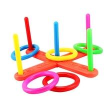 Anel de argola lance plástico anel toss quoits jardim jogo piscina brinquedo ao ar livre jogando virola engraçado crianças esporte conjunto brinquedo presente para crianças