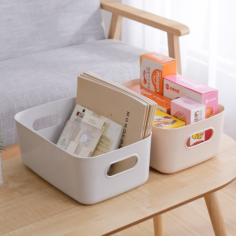 Storage Basket Cosmetics Storage Basket Kitchen Desktop Debris Snacks Storage Box Toilet Bathroom Plastic Storage Box