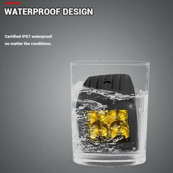 UTV LED Work Light 2Pcs Amber 12W 3-inch Fog Flood Waterproof Replacement