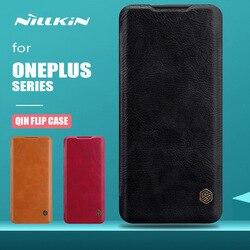 غلاف هاتف Oneplus 7T 7 Pro سلسلة Nillkin Qin أغلفة جلدية فاخرة غلاف خلفي Oneplus 7T 7 Pro 6 5T 5 3 أغلفة هاتف للأعمال