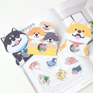 30 Pcs Adorable Little Dog Memo Stickers Husky Akita Shiba Inu Pack Cute Kawaii Planner Diary Stickers Scrapbooking Stationery