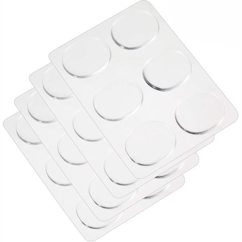 New 36 Pcs Drum Damper Gel Pads Drum Mute Gel Transparent Silicone Drums For Drum Tone Control