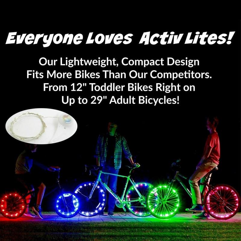 2m Cool Car Decoration Resistant 20 LEDs Bicycle Bike Wheel Light Cycling Rim Lights LED Spoke Lamp String Wire For Bike Decor