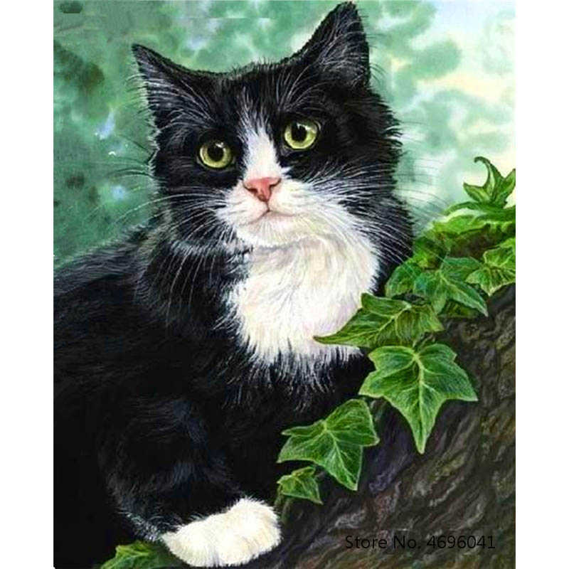 Painting By Numbers Frameworks Coloring By Numbers Home Decor Pictures Animal Cat Decorations RSB8422