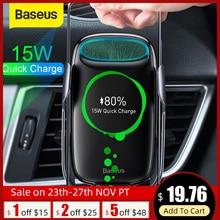 Baseus 15W Qi Wireless Caricabatteria Da Auto per iPhone Samsung S8 S9 Senza Fili di Ricarica Air Vent Mount Mobile Del Supporto Del Basamento sensore di Bloccaggio
