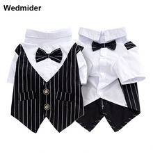 Formal Dog Clothes Wedding Pet Dog Suit Costume Pet Tuxedo Clothes For Small Medium Dogs Pug French Bulldog Bow Tie Dogs Clothes ishowtienda baby boys clothes set formal party christening wedding tuxedo bow tie long sleeve gentry splice costume for kids