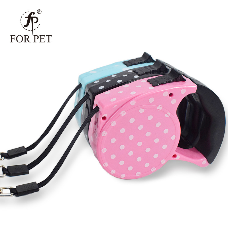 Pet Supplies Retractable Convenient Pet Traction Rope Printed Dotted Dog Automatic Retractor