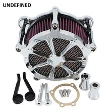 Chrome Motorcycle Air Cleaner Intake Filter Kit for Harley Twin Cam EVO Dyna FXR Softail 93 2015 Touring Road King Electra Glide