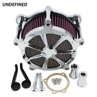 Chrome Motorcycle Air Cleaner Intake Filter System Kit for Harley Dyna FXR Softail Touring Road King Electra Glide Road Glide