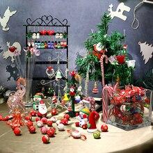 Animal Figurine Christmas-Ornaments Glass Cane-Accessories Pendant-Gifts Xmas-Tree-Decor