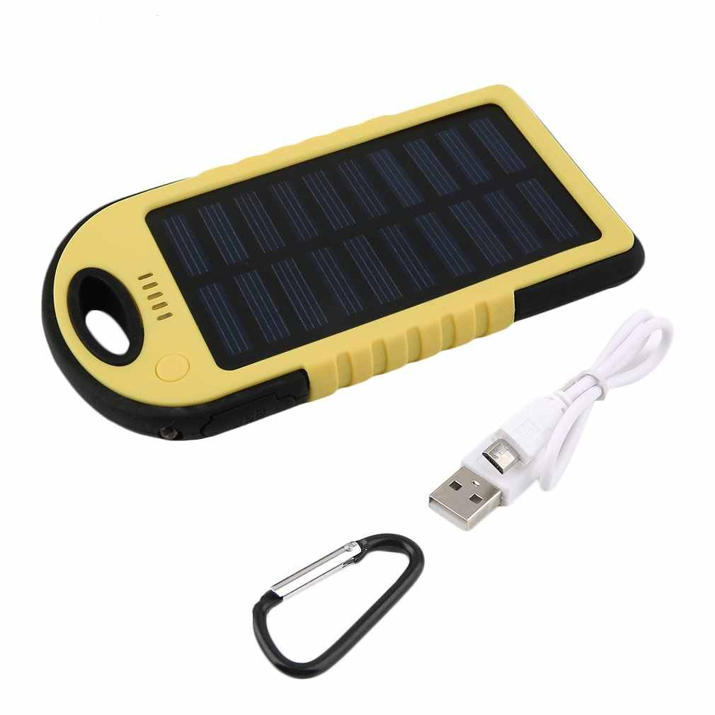 5000mAh Solar Emergency Power Bank Battery with LED Torch Portable Phone Battery Solar Waterproof External Battery for Mobile