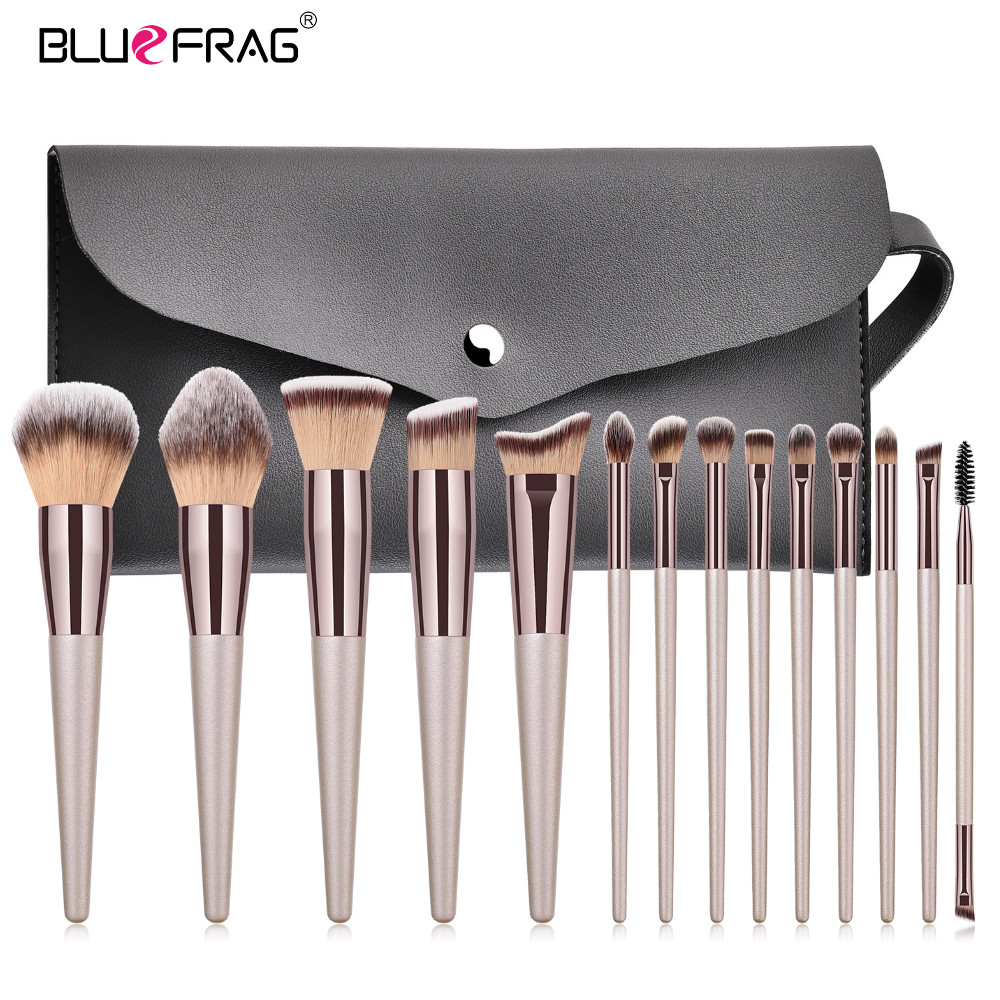 BLUEFRAG 5-14 шт набор кистей для макияжа Косметическая основа пудра Румяна Тени для век смесь губ Макияж Кисти Набор инструментов Maquiagem