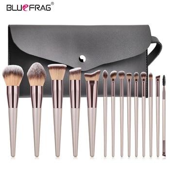 BLUEFRAG 5-14pcs Makeup Brush Set Cosmetic Foundation Powder Blush Eye Shadow Lip Blend Make Up Brushes Tool Kit Maquiagem