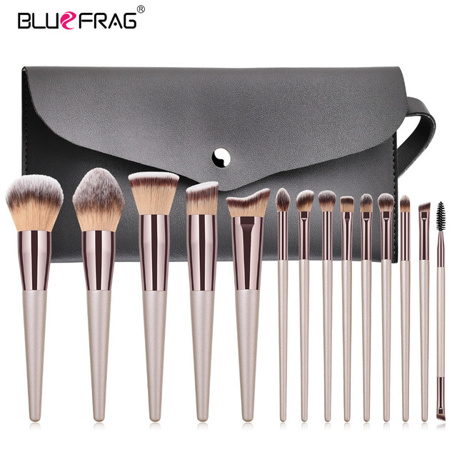 BLUEFRAG 5-14pcs Makeup Brush Set Cosmetic Foundation Powder Blush Eye Shadow Lip Blend Make Up Brushes Tool Kit Maquiagem