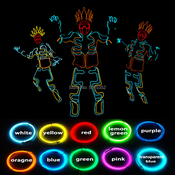 Musical Festival Wear Bling Bling Led Costume Dance EL Wire Costume Neon Light Up Glowing Costume Drop Shipping