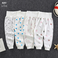 2020 Autumn Spring Newborn Baby Pants Girl Boy High waist Leggings Cotton Clothes Toddler Trousers Clothing Infant Kids PP Pants