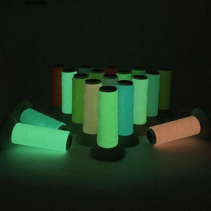2021 световой для вышивки/светящиеся нити для шитья 150D/500 ярдов флуоресцентные светильник нить Костюм Ночное аксессуары для резьбы