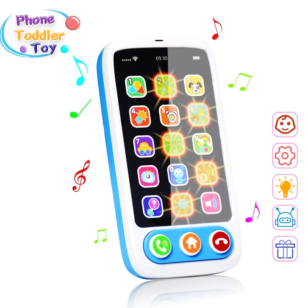 Baby First Music Cell Phone Toy  Kids Educational Phone Call & Chat Learning Role-Play Fun Toy For 1 2 3 Year Old Kids