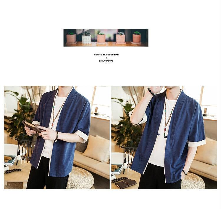 Sinicism Store Men Patchwork Shirt Streetwear Short Sleeve 19 Summer Harajuku Vintage Kimono Shirts Black Fashion Open Stitch 25