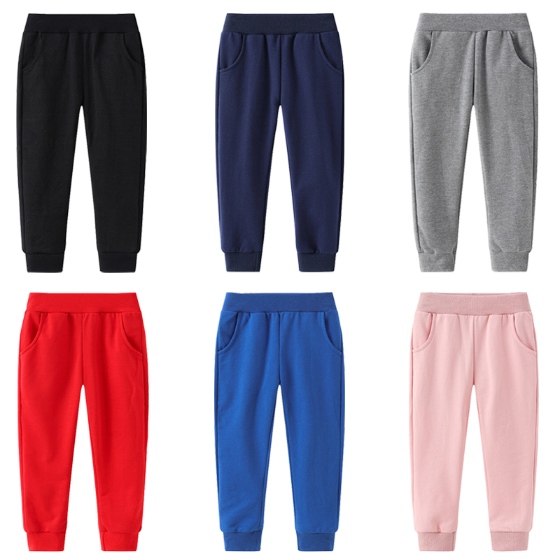 6 Colors Solid Color Kids Pants Casual Loose Thin Boys And Girls Sweatpants Comfortable Pants For Kid 2-8 Year Children Clothing