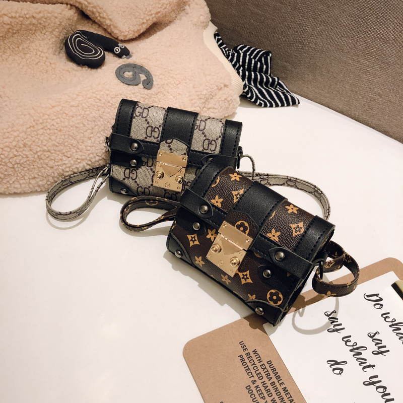 Baby Children Mini Retro Package Little Girl One-Shoulder Princess-Style Chain Shoulder Bag South Korea Girls Mei Baochao