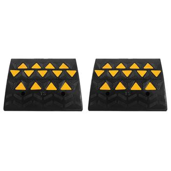 2pcs Heavy Duty Rubber Curb Ramps Driveway Threshold Ramp for Car Vehicle Motorbike Wheelchair