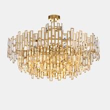 LED Crystal Chandelier Light Bedroom Living Room Hanglamp E14 Gold Indoor Lighting Luminaire Restaurant Decoration Hanging Lamp