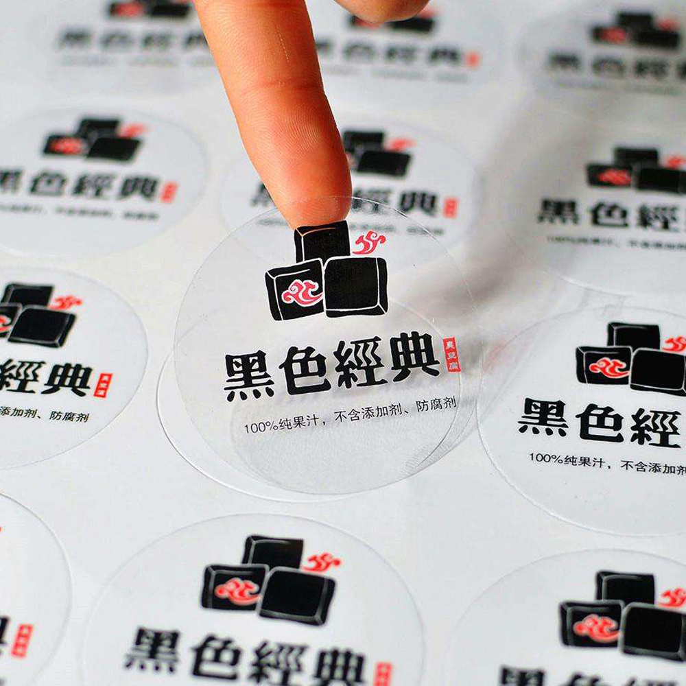 Printing Transparent Adhesive, Transparent Sticker, Customized Various Shapes, White Ink Can Be Printed