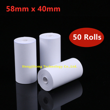 58 x 40 mm 50 Rolls Cash Register Paper Thermal Paper Mobile Bluetooth Cash Register Paper Roll