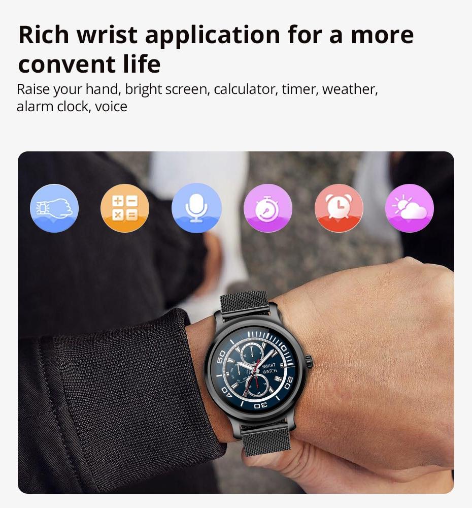 Makibes R2 Smart watch Men GPS Bluetooth Heart Rate Monitor clock Call Message Reminder Music Playe Fitness tracker smartwatch_13