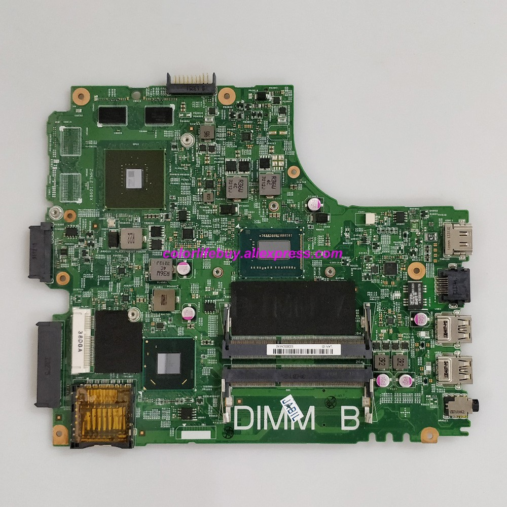 Genuine CN-055NJX 055NJX 55NJX w <font><b>I5</b></font>-3337U CPU 12204-1 w GT625M GPU Laptop Motherboard for <font><b>Dell</b></font> Inspiron 15R <font><b>3421</b></font> Notebook PC image