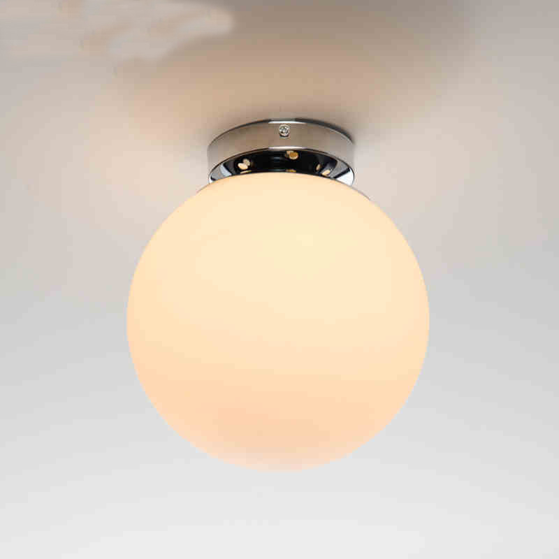 Modern Minimalist Frosted Glass Ceiling Lamp Art White Ball Restaurant Living Room Bar Decoration Ceiling Lamp