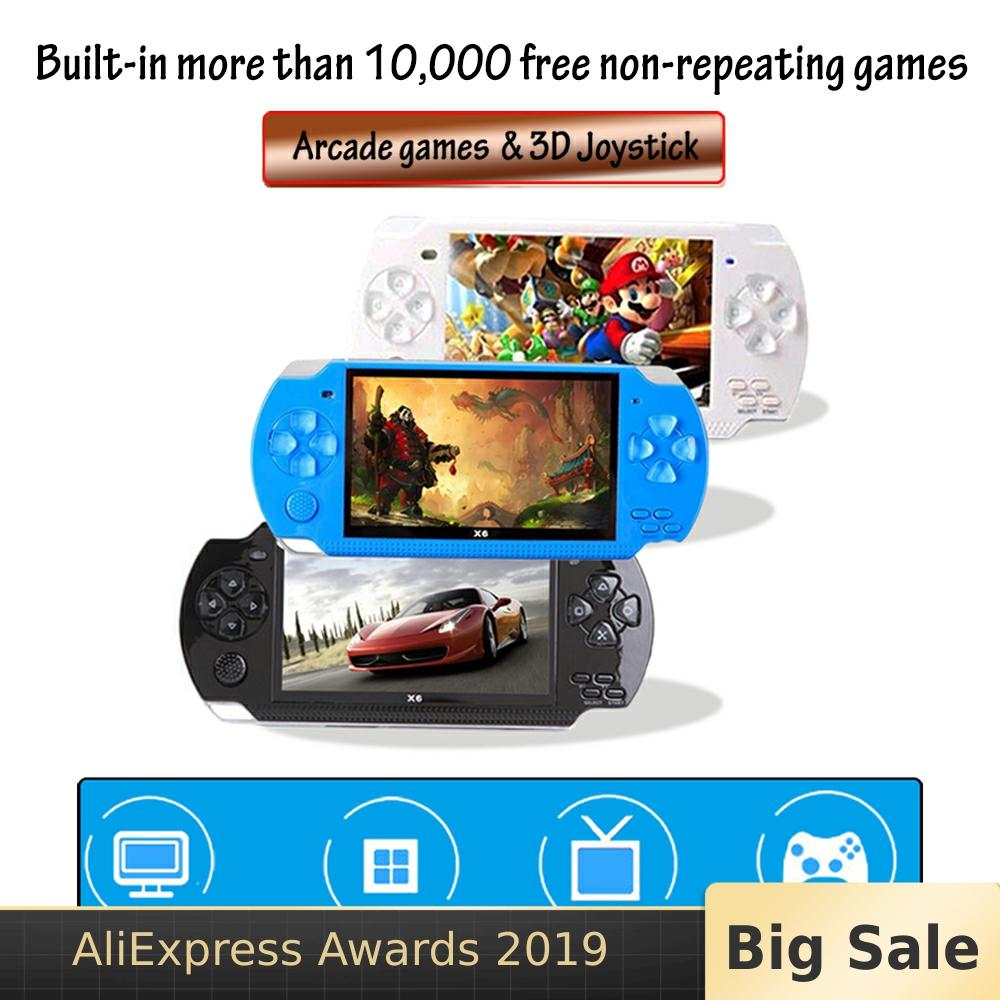 10,000 Games 4.3 Inch TFT Screen 8G Video Game Console Player for PSP Retro Game Handheld Support Mp4 Player Camera Video E-book image