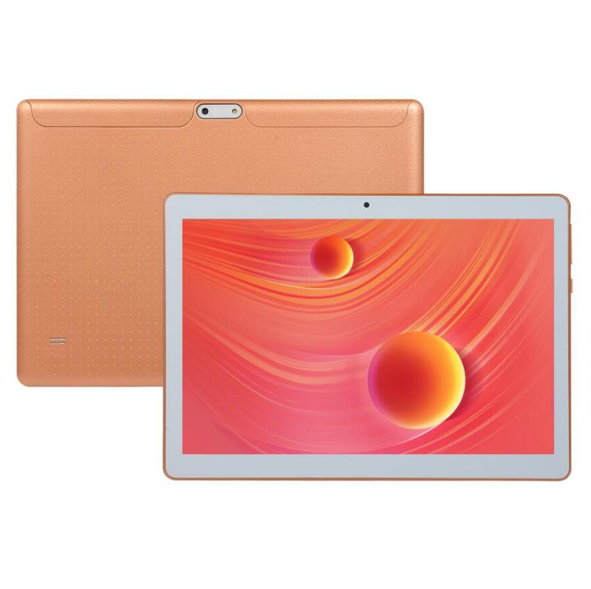 Gold Tablet 1280*800 IPS Screen 10 Inch Android 8.0 Tablet Pc 10 Core 6G+128GB 4G Call  Phone  Wifi GPS Bluetooth Tablet For Kid